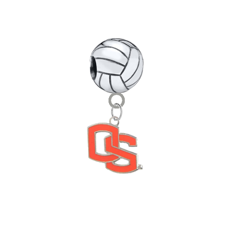 Oregon State Beavers Style 2 Volleyball Universal European Bracelet Charm