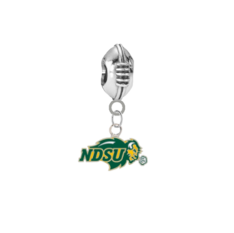 North Dakota State Bison Football Universal European Bracelet Charm