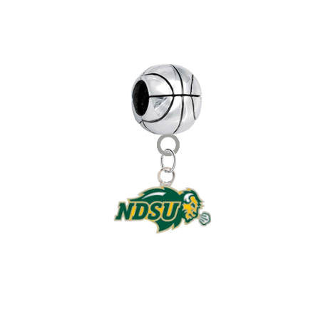 North Dakota State Bison Basketball Universal European Bracelet Charm