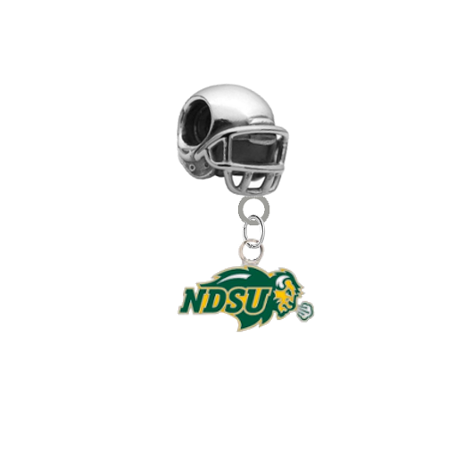North Dakota State Bison Football Helmet Universal European Bracelet Charm