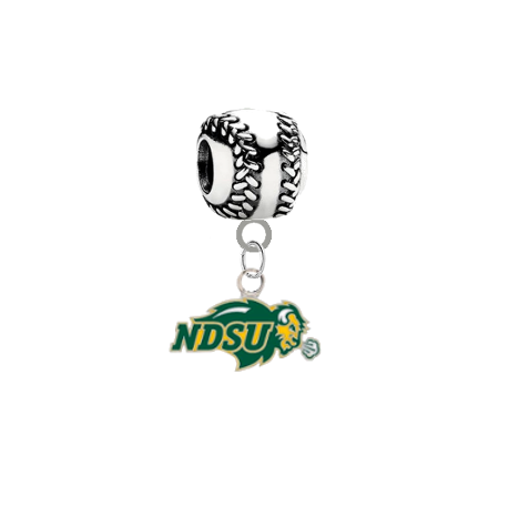 North Dakota State Bison Softball Universal European Bracelet Charm