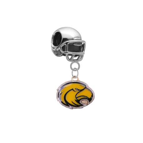 Southern Miss Golden Eagles Football Helmet Universal European Bracelet Charm