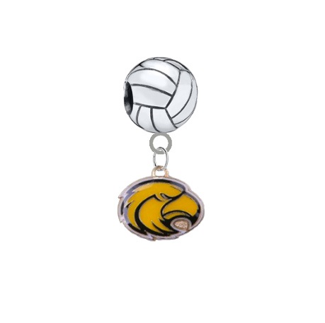 Southern Miss Golden Eagles Volleyball Universal European Bracelet Charm