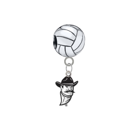 New Mexico State Aggies Volleyball Universal European Bracelet Charm