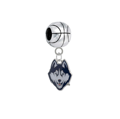 UConn Connecticut Huskies Basketball Universal European Bracelet Charm