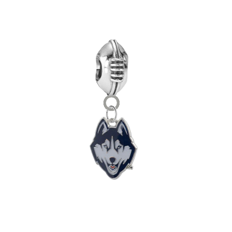 UConn Connecticut Huskies Football Universal European Bracelet Charm
