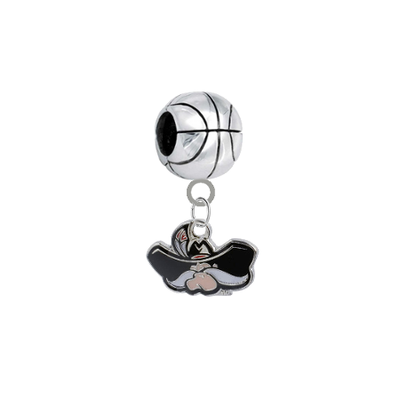 UNLV Runnin Rebels Basketball Universal European Bracelet Charm