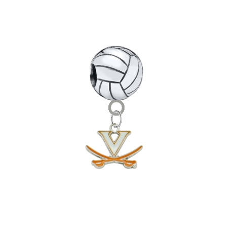 Virginia Cavaliers Volleyball Universal European Bracelet Charm