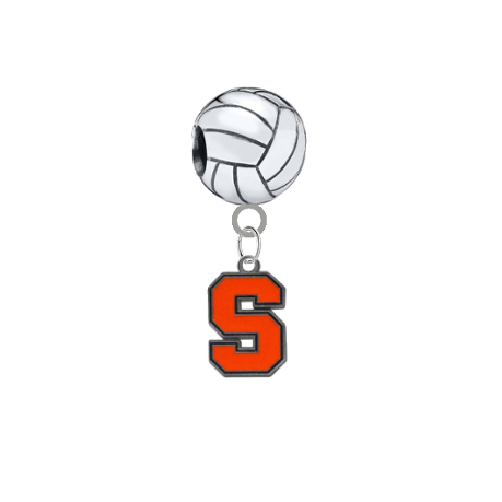 Syracuse Orange Volleyball Universal European Bracelet Charm