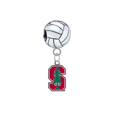 Stanford Cardinal Volleyball Universal European Bracelet Charm