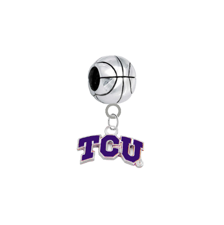 TCU Horned Frogs Basketball Universal European Bracelet Charm