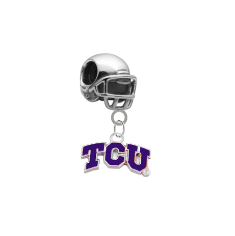TCU Horned Frogs Football Helmet Universal European Bracelet Charm