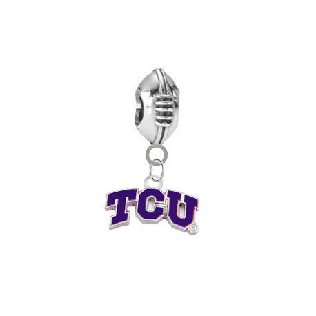 TCU Horned Frogs Football Universal European Bracelet Charm