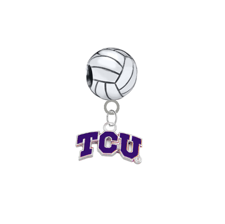 TCU Horned Frogs Volleyball Universal European Bracelet Charm