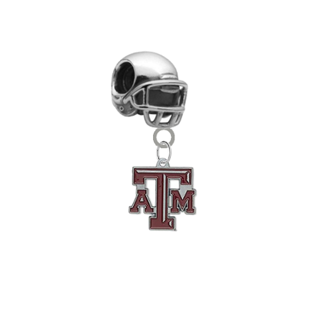 Texas A&M Aggies Football Helmet Universal European Bracelet Charm