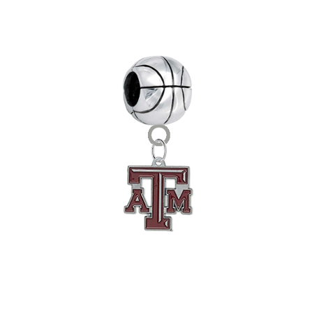 Texas A&M Aggies Basketball Universal European Bracelet Charm