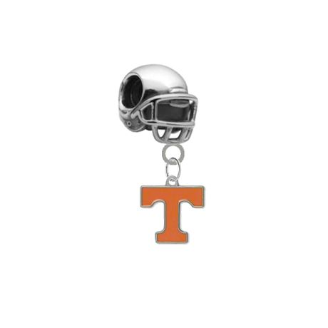 Tennessee Volunteers Football Helmet Universal European Bracelet Charm