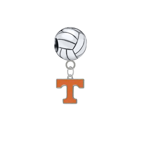 Tennessee Volunteers Volleyball Universal European Bracelet Charm
