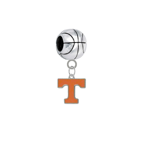 Tennessee Volunteers Basketball Universal European Bracelet Charm