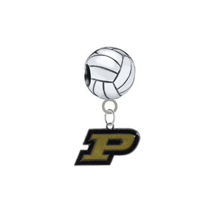 Purdue Boilermakers Volleyball Universal European Bracelet Charm