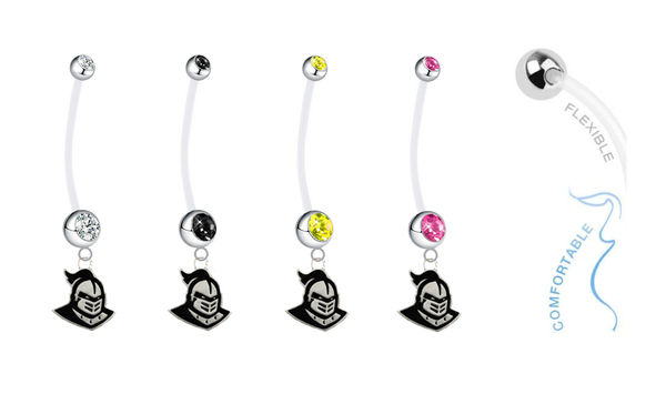 Central Florida Knights Pregnancy Maternity Belly Button Navel Ring - Pick Your Color