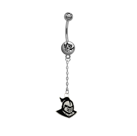 Central Florida Knights Dangle Chain Belly Button Navel Ring