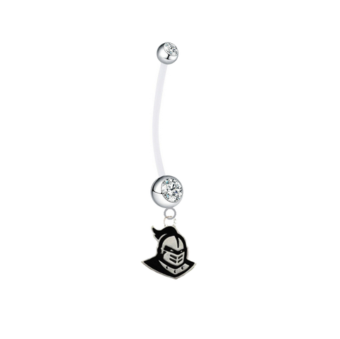 Central Florida Knights Clear Pregnancy Maternity Belly Button Navel Ring