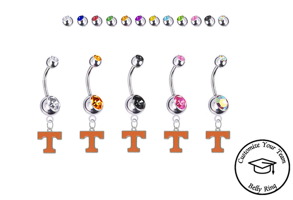 Tennessee Volunteers Vols College Belly Navel Ring NEW Pick Your Color