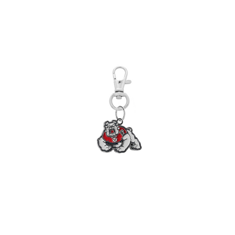 Fresno State Bulldogs Silver Pet Tag Dog Cat Collar Charm