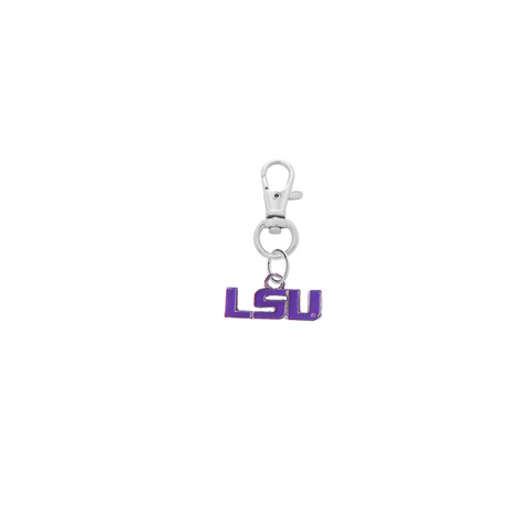 LSU Tigers 2 Silver Pet Tag Dog Cat Collar Charm