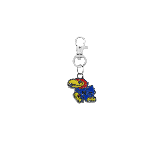Kansas Jayhawks Silver Pet Tag Dog Cat Collar Charm