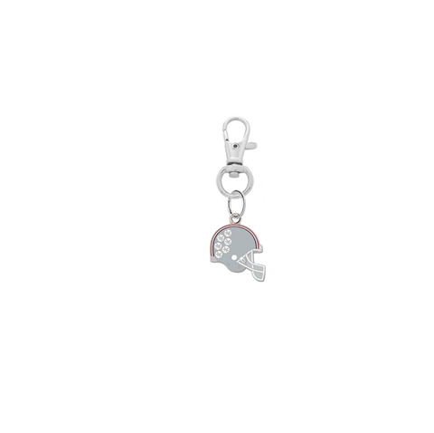 Ohio State Buckeyes Football Helmet Silver Pet Tag Dog Cat Collar Charm
