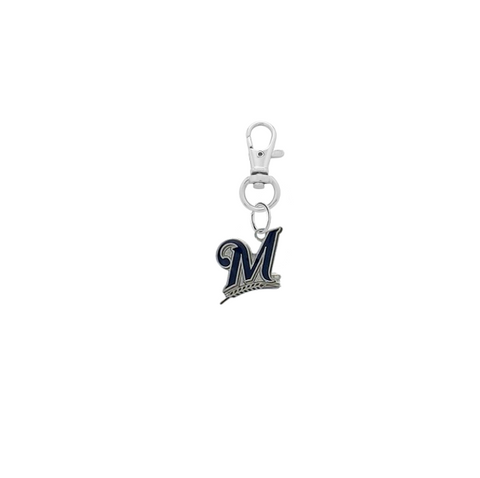 Milwaukee Brewers Silver Pet Tag Dog Cat Collar Charm