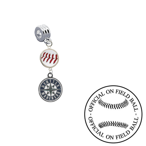 Seattle Mariners On Field Baseball Universal European Bracelet Charm (Pandora Compatible)