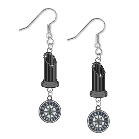 Seattle Mariners MLB World Series Trophy Dangle Earrings