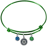 Seattle Mariners Green MLB Expandable Wire Bangle Charm Bracelet