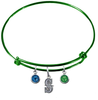 Seattle Mariners Style 2 Green MLB Expandable Wire Bangle Charm Bracelet