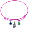Seattle Mariners Style 2 Pink MLB Expandable Wire Bangle Charm Bracelet