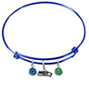 Seattle Seahawks Blue NFL Expandable Wire Bangle Charm Bracelet