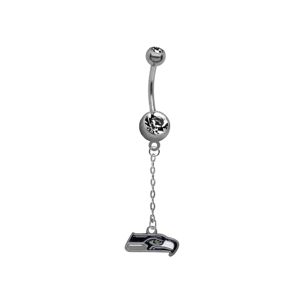 Seattle Seahawks Chain NFL Football Belly Button Navel Ring