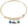 Seattle Seahawks Gold NFL Expandable Wire Bangle Charm Bracelet