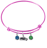 Seattle Seahawks Pink NFL Expandable Wire Bangle Charm Bracelet