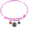 South Carolina Gamecocks PINK Color Edition Expandable Wire Bangle Charm Bracelet