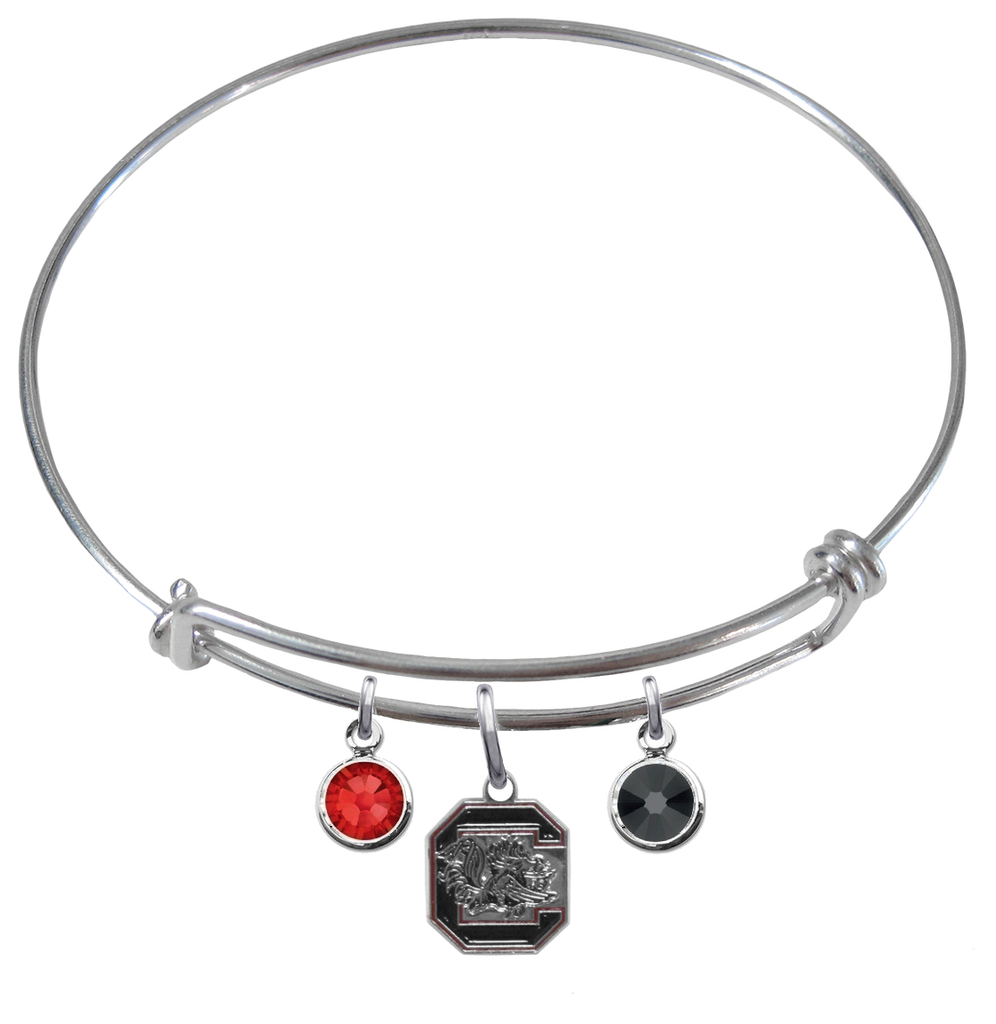 South Carolina Gamecocks NCAA Expandable Wire Bangle Charm Bracelet