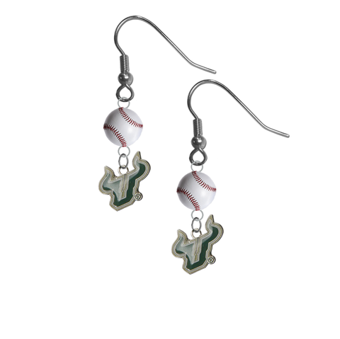 South Florida Bulls NCAA Baseball Dangle Earrings