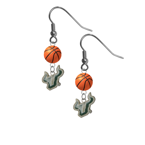 South Florida Bulls NCAA Basketball Dangle Earrings