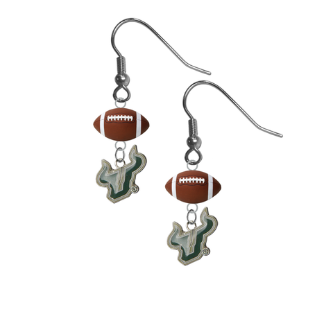 South Florida Bulls NCAA Football Dangle Earrings