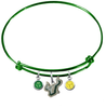 South Florida Bulls GREEN Color Edition Expandable Wire Bangle Charm Bracelet