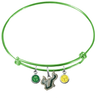 South Florida Bulls LIME GREEN Color Edition Expandable Wire Bangle Charm Bracelet