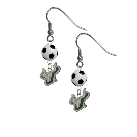 South Florida Bulls NCAA Soccer Dangle Earrings